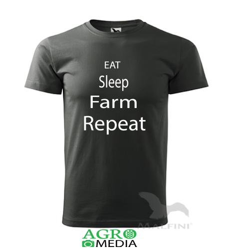 """Marškinėliai """"EAT SLEEP FARM"""""""
