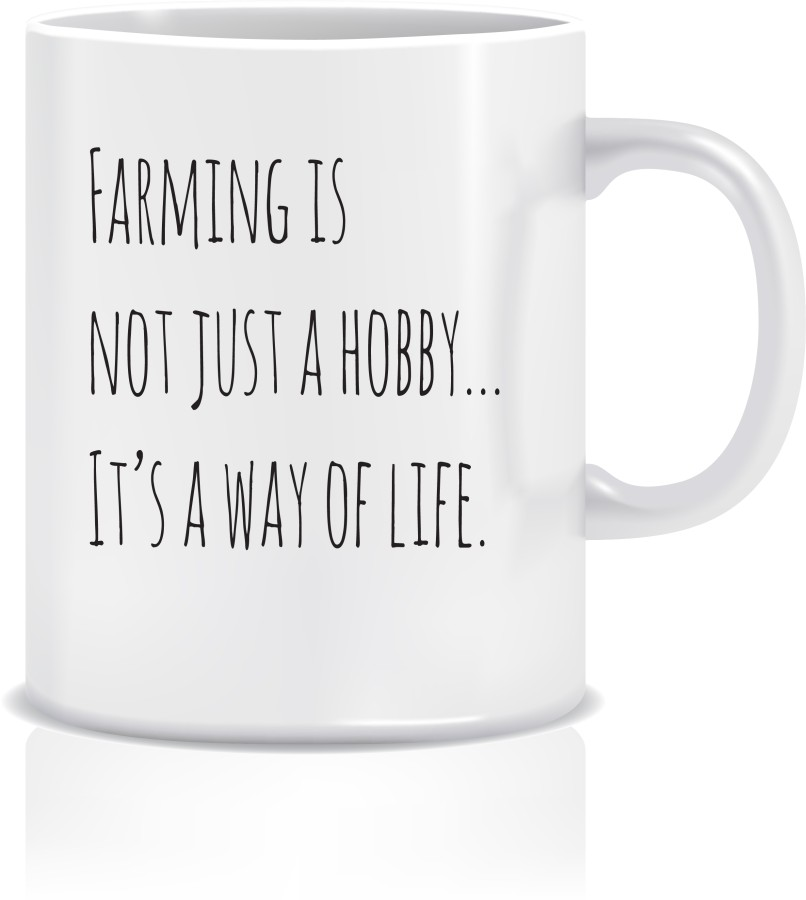 "Puodelis ""FARMING IS NOT JUST A HOBBY"""