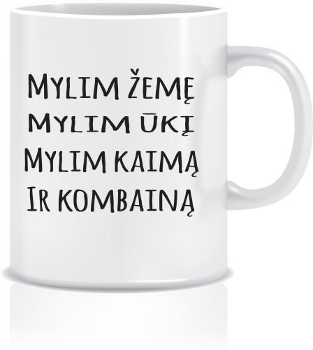 """Puodelis """"MYLIM ŽEMĘ MYLIM ŪKĮ"""""""