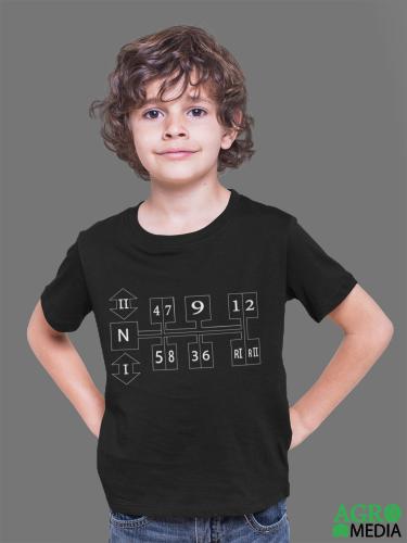 Vaikiški marškinėliai ,,MTZ Bėgių schema ''