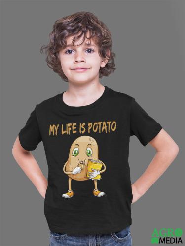 Vaikiški marškinėliai ,,My life is potato''