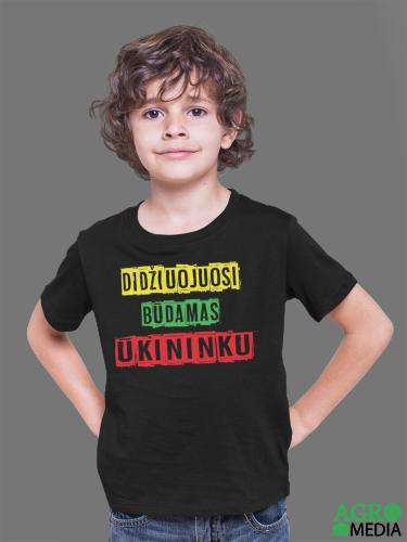 Vaikiški marškinėliai ,,Didžiuojuosi būdamas ūkininku''