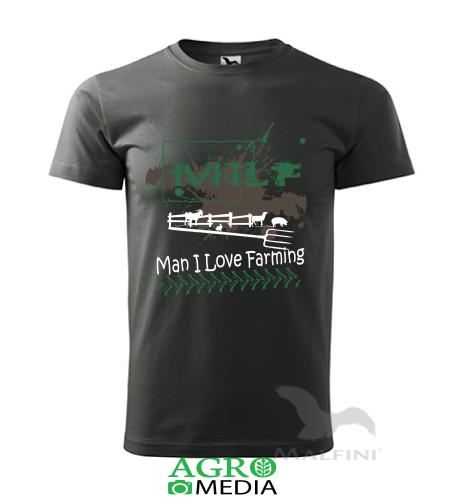 """Marškinėliai """"MILF - Man I Love Farming"""""""