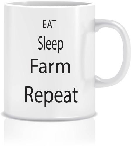 """Puodelis """"EAT SLEEP FARM"""""""