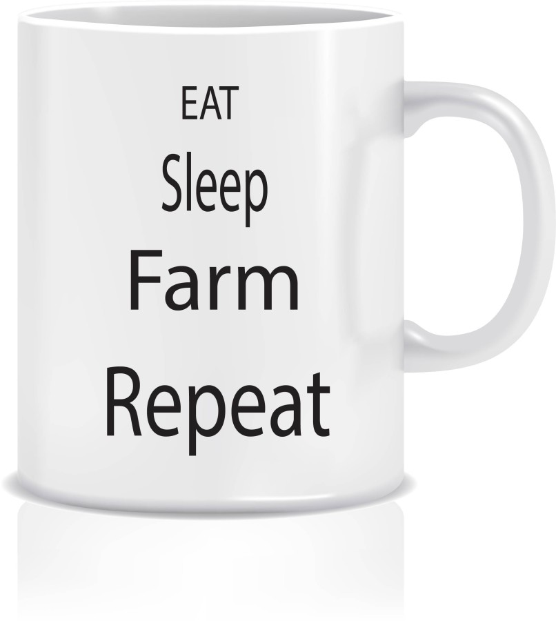 "Puodelis ""EAT SLEEP FARM"""